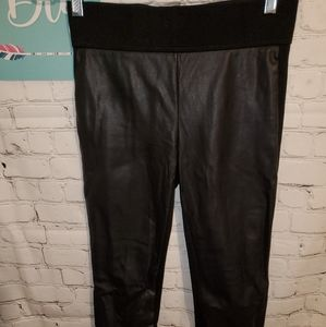 Loft Faux Leather Front Pull On Pants